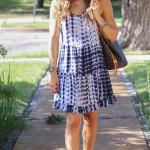 Tie-Dye Strappy Dress