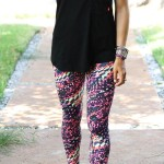 Bright Printed Leggings + Sculpted Shoulder Workout