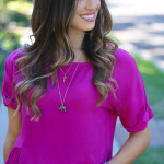 Fuchsia Crop Top