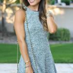 Grey Swing Tweed Dress
