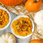 Creamy Pumpkin Risotto with Sweet and Spicy Roasted Pepitas