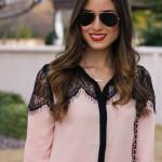 Blush Lace Top