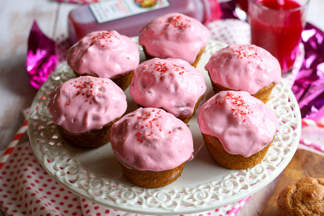 Orange Beet Cupcakes with Creamy Strawberry Beet Frosting