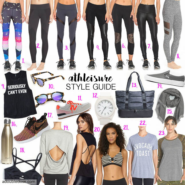 Athleisure Guide- A guide to nailing the athleisure trend from gym to errands or brunch | adoubledose.com