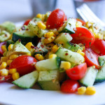 Tomato + Corn + Avocado Salad