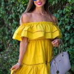 Yellow OTS Dress