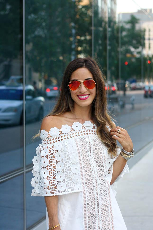 White Lace Dress | adoubledose.com