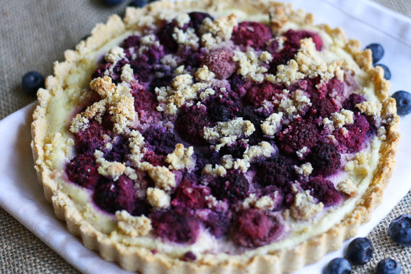 Berry Crumble Cheesecake - a berry treat that is gluten free, grain free, and packed with protein | adoubledose.com