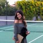 Olive Off Shoulder Sweater