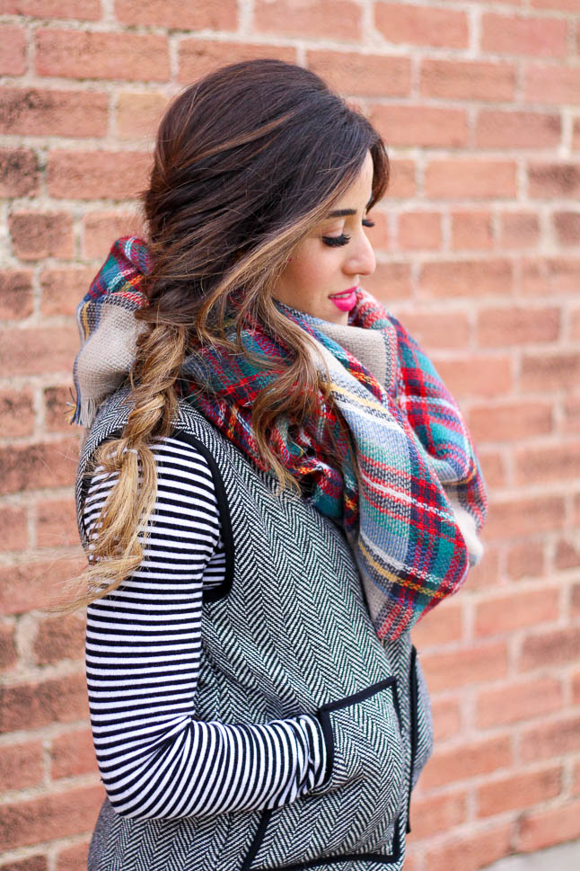 How to Mix Prints with Plaid and Herringbone | adoubledose.com