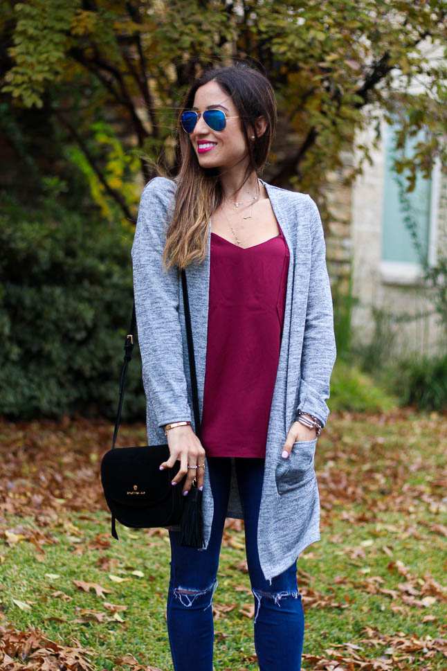 How To Style a Long Grey Cardigan | adoubledose.com