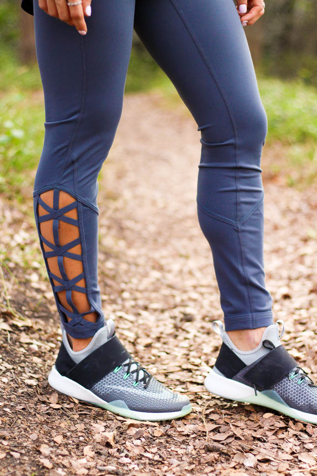 Lace Up Workout Leggings   adoubledose.com