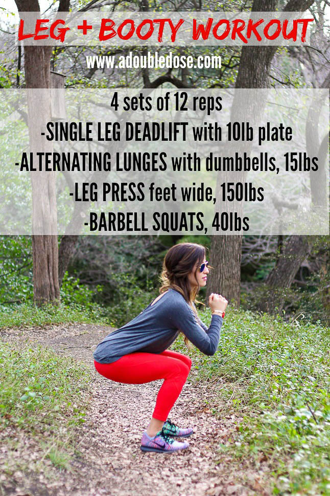 Leg Workout - A Double Dose of Fitness | adoubledose.com