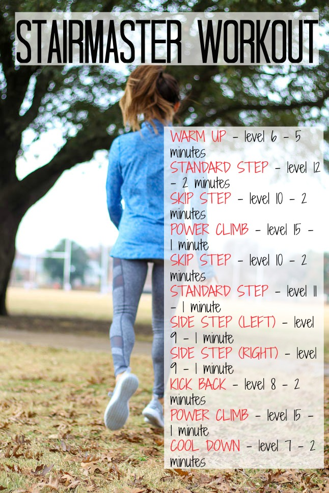 Stairmaster Workout - Double Dose of Fitness   adoubledose.com