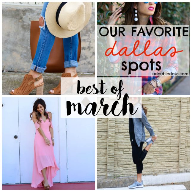 March Favorites - all of our favorite blog posts + pieces from march | adoubledose.com