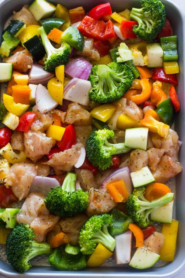 Roasted Veggies and Chicken - A Double Dose Of Fitness   adoubledose.com