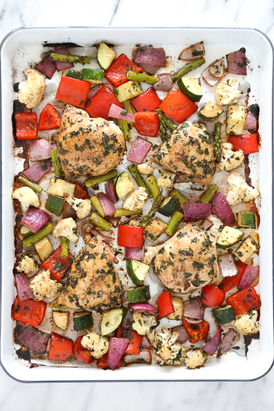 Sheet-Pan-Roasted-Balsamic-Herb-Chicken-and-Vegetables - Double Dose of Fitness | adoubledose.com