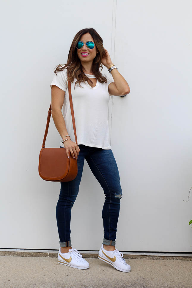 How to Style Athletic Shoes with Jeans   adoubledose.com
