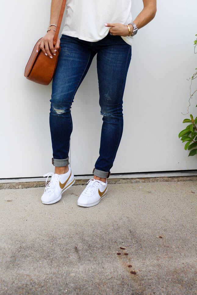 How to Style Athletic Shoes with Jeans | adoubledose.com