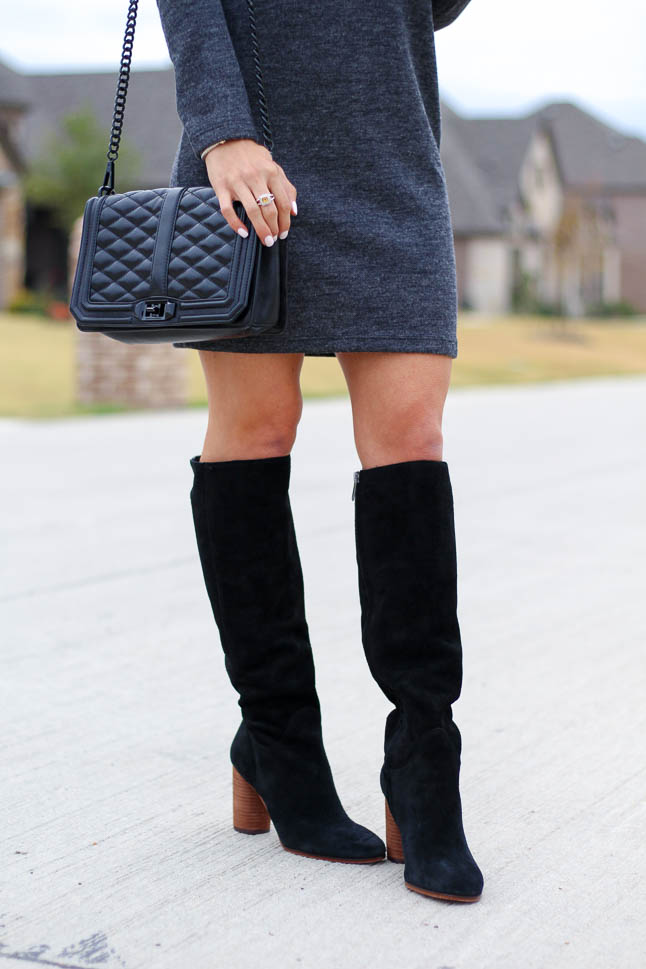 How To Style A Dress With Boots For Petite | adoubledose.com