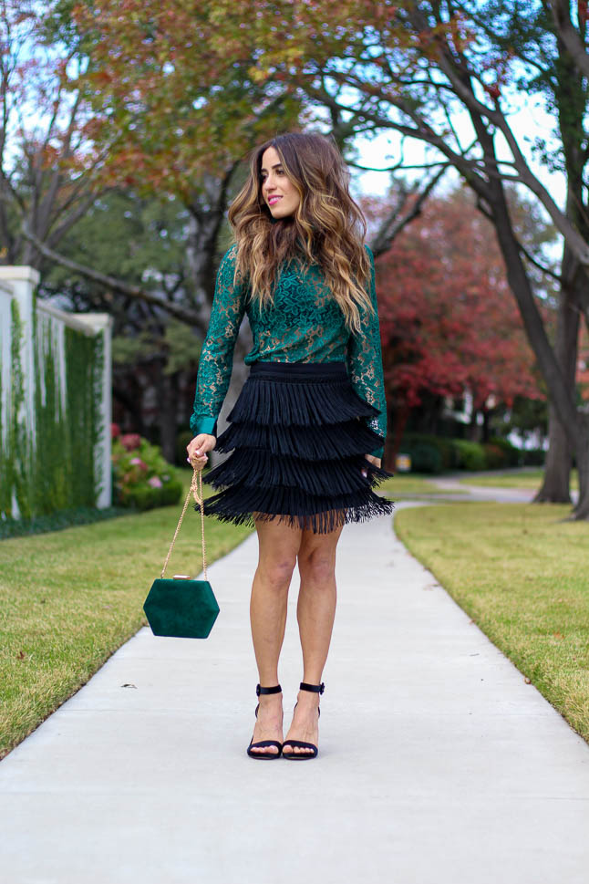 Lace and Fringe For The Holidays | adoubledose.com